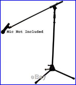 (10) Pro Audio Stage Instrument Boom Microphone Stand & Free Mic Mounts Package