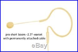 10 pack BE4Pc-AT Beige Cream Pro Short Boom Headset Earset Mic Audio-Technica