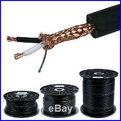 100 500FT 8.0mm 16AWG Professional Mic Microphone Stereo Audio Cable Bulk Wire