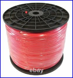 1000 Ft Red Bulk 7mm 2-Conductor Microphone Mic Audio Cable Roll
