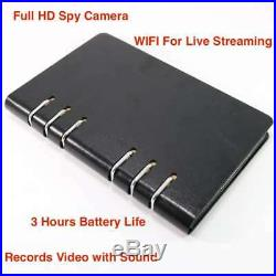 1080p Lawmate WIFI Wireless Notebook DVR Hidden Spy Security Nanny Camera Audio