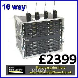 16way Audio technica radio mic rack suit trantec Sennheiser stage theatre light