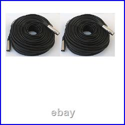 2 lot 50ft xlr male to female 3 pin MIC Shielded Cable audio Microphone Pack
