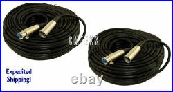2 x 50Ft XLR 3-Pin Male Female Mic Cord Audio Microphone Balanced Cable 50'Foot