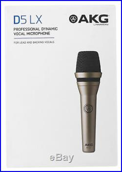 (4) AKG D5 LX Handheld Live Sound Vocal Microphones Dynamic Supercardioid Mics