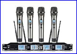 4 Channel Wireless Cordless Microphone mic System for Audio Technica Wireless