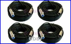 4 Pack 50FT XLR 3-Pin Male Female Mic Microphone Audio Shielded Cable 50'Ft Foot