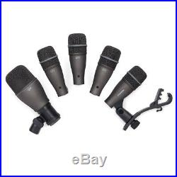 5pc Samson DK705 Drum Mic Kit Microphone Set Audio Recording/Performance with Case