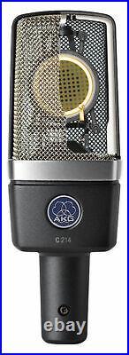 AKG C214 Pro Condenser Microphone Recording Mic+Audio Technica Headphones+Shield