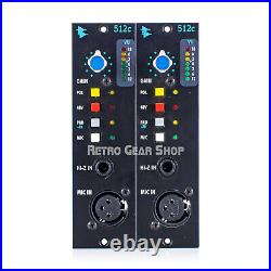 API Audio 512C Sequential Stereo Pair 500 Series Mic Pre Microphone Preamp