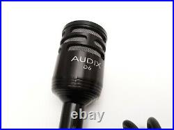 AUDIX D6 Drum Microphone with Mic Cable TESTED Kick Drum Pro Audio Equipment