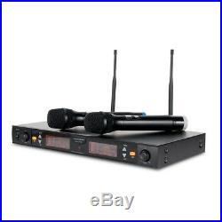 American Audio WM-219 2 x Wireless Handheld Radio Microphones Mic System UHF Adj