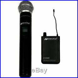 AmpliVox Sound Systems S1623 16-Channel Wireless UHF Handheld Mic Kit NEW