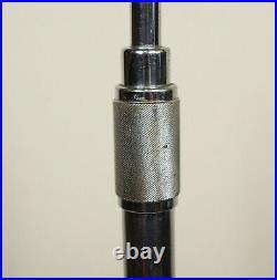 Atlas Sound Mic Microphone Floor Stand Art Deco Chrome Feet 1940's MS24 Vintage