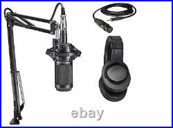 Audio Technica 1-Person PC Podcast Podcasting Kit with 2035 Mic+Headphones+Boom