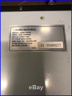 Audio Technica AEW-R4100 UHF Synthesized Diversity Receiver + AEW-T1000 Lav Mic