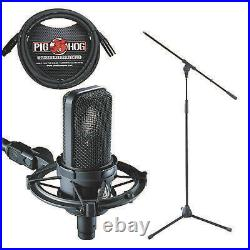 Audio Technica AT-4040 Studio Microphone Shock Mount 10' Cable and Mic Stand