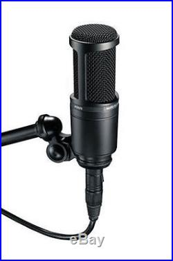 Audio Technica AT2020 Cardioid Condenser Microphon + AT8458 Mic Shock Mount Kit