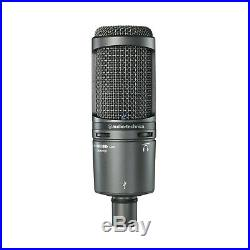 Audio Technica AT2020 + USB Mic Professional Cardioid Condenser Microphone