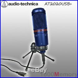 Audio Technica AT2020 USB Plus Large Diaphragm Cardioid Condenser Microphone Mic