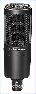 Audio Technica AT2020PK Studio Mic Recording Package-Microphone+Headphones+Boom