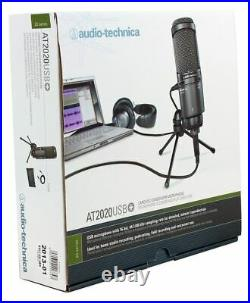 Audio Technica AT2020USB+ PLUS Podcasting Podcast Recording Microphone Mic+Stand