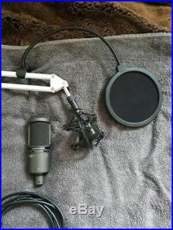 Audio-Technica AT2020USB PLUS USB Microphone Black + Mic Stand Equipment
