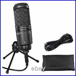 Audio Technica AT2020USB+ PLUS USB Recording Mic withHeadphone Output +Mix Control