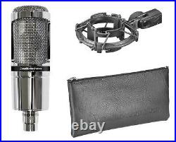 Audio Technica AT2020V AT2020-V Limited Edition Chrome Condenser Microphone Mic