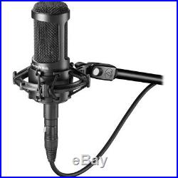 Audio-Technica AT2035 Cardioid Condenser Mic withAxcessAble Pop Filter, Cable&Stand