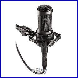 Audio Technica AT2035 Cardioid Condenser Studio Mic+Case+Headphones+XLR Cable