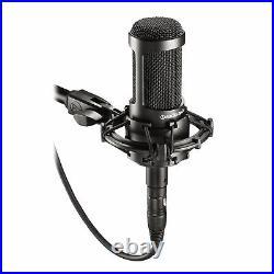 Audio Technica AT2035 Cardioid Condenser Studio Microphone/Mic+Case+Free Speaker