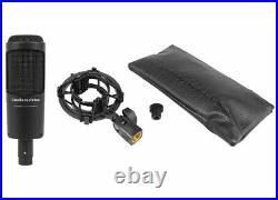Audio Technica AT2035 Condenser Studio Microphone Mic + Case + Isolation Shield