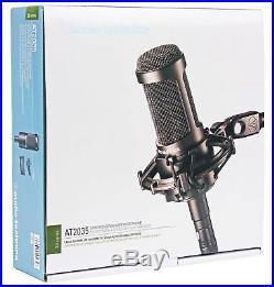 Audio Technica AT2035 Condenser Studio Microphone Mic+Case+Pop Filter+Headphones