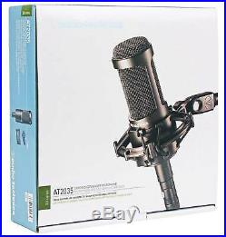 Audio Technica AT2035 Side Address Cardioid Condenser Studio Microphone/Mic+Case