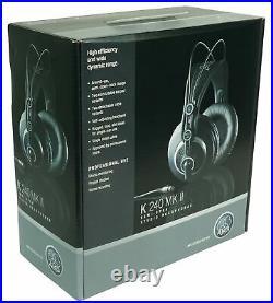Audio Technica AT2050 Studio Condenser Recording Microphone Mic+AKG Headphones