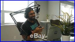 Audio Technica AT2050 Studio Condenser Recording Microphone Mic+Boom+Headphones