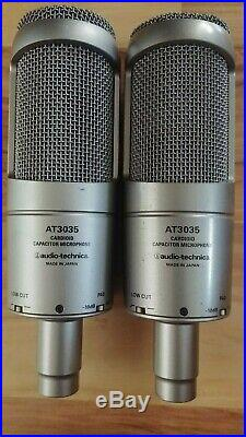 Audio Technica AT3035 Studio Condenser Microphone withShock Mount & Mic Pouch