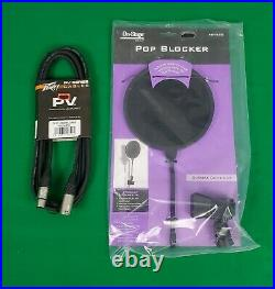 Audio Technica AT4033A Bundle Shock Mount, Dust Cover, Pop Filter & Mic Cable