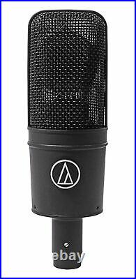 Audio Technica AT4033A Condenser Microphone Mic+Shockmount+AKG Headphones
