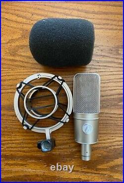 Audio-Technica AT4047/SV Cardioid Condenser Mic + Shock Mount & Foam Shield