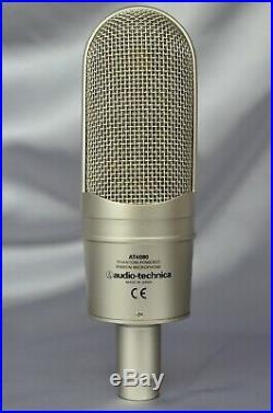 Audio Technica AT4080 Bidirectional Active Ribbon Microphone Mic & Case