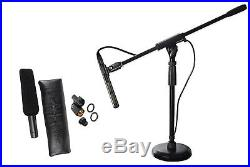 Audio Technica AT875R Short Shotgun Condenser Microphone with Line+Mic Stand