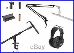 Audio Technica AT897 Shotgun Condenser Microphone Mic+Case+Boom+Stand+Headphones