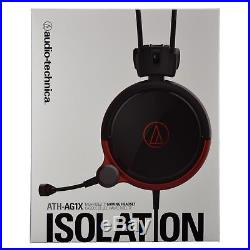 Audio-Technica ATH-AG1X ISOLATION High-Fidelity Stereo Gaming Headset Black Red