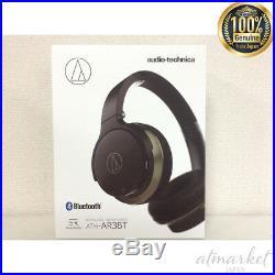 Audio-Technica ATH-AR3BTBK SonicFuel Wireless On-Ear Headphones Mic & Control