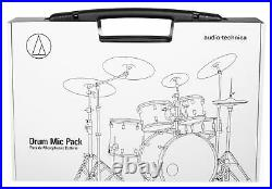 Audio Technica ATM-DRUM7 Drum Microphone Kit with(7) Mics Kick/Snare/Tom/Overheads