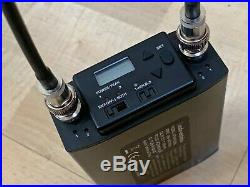 Audio Technica ATW-R1820a Receiver 2- ATW-T1801 UHF Transmitter Mic 655-681 MHz