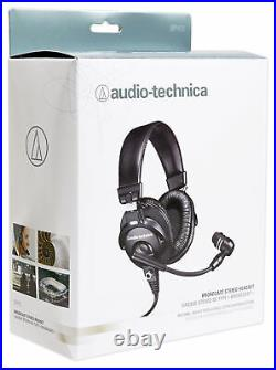Audio Technica BPHS1 Over-Ear Broadcast Headphones Headset with Mic+Headphone Amp