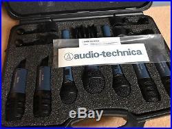 Audio Technica MB DK7 7 Piece Drum Mics Microphone Set Kit RRP £339